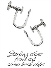 Clip Earrings Findings: Sterling Silver s & Parts