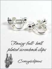 Clip Earrings Findings: 4mm Ball Screw Back Nickel Free