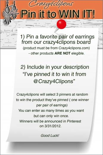 Crazy4clipons Pin-it-to-win-it