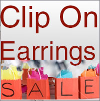 Clip earrings on Sale